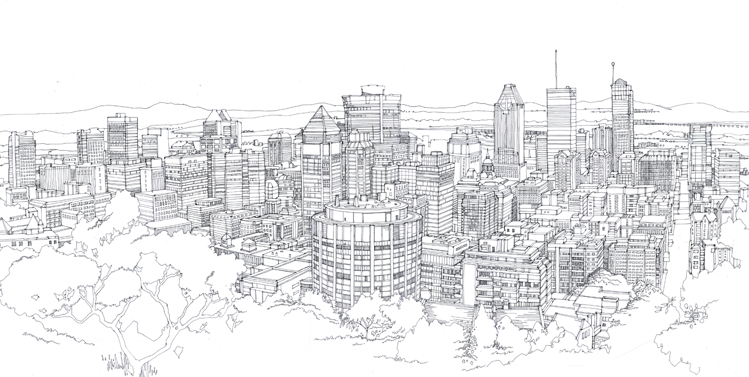 Drawn cityscape #9