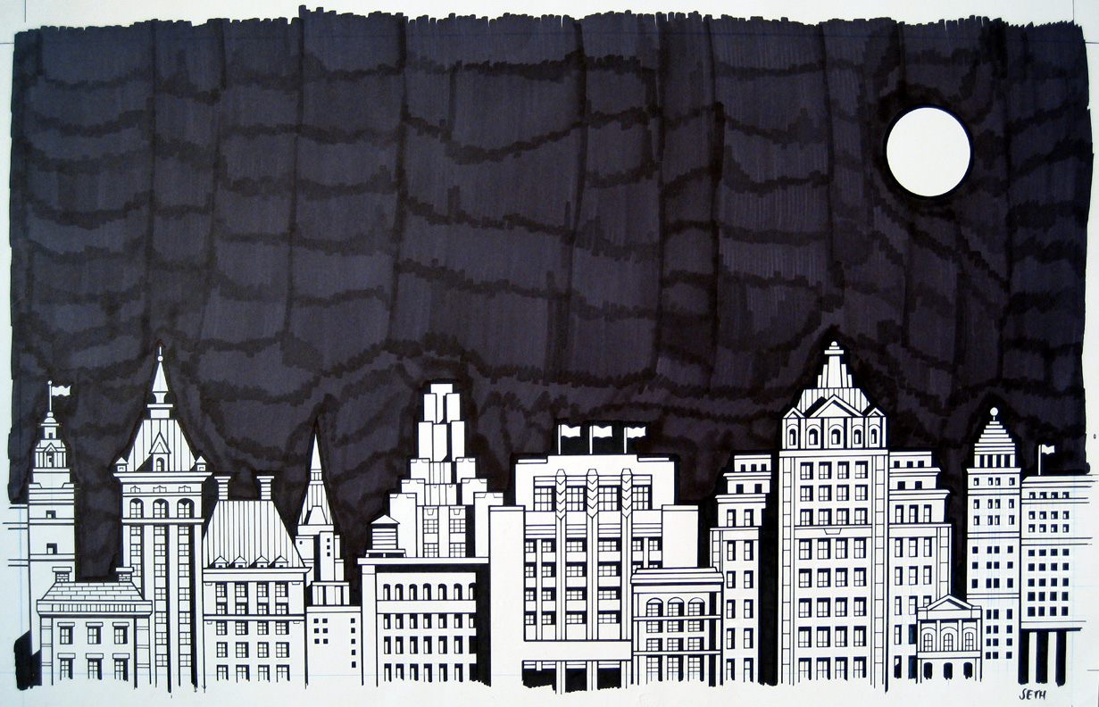 Drawn cityscape Summer  drawing show
