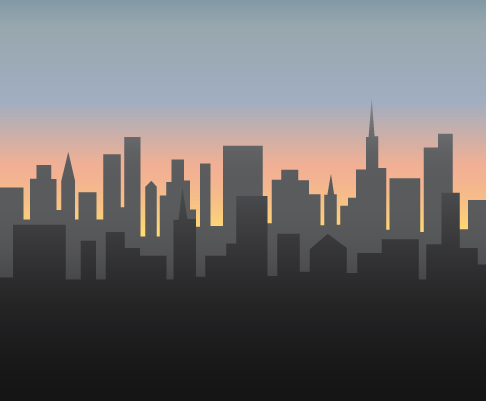 Drawn cityscape (with Draw a to 4