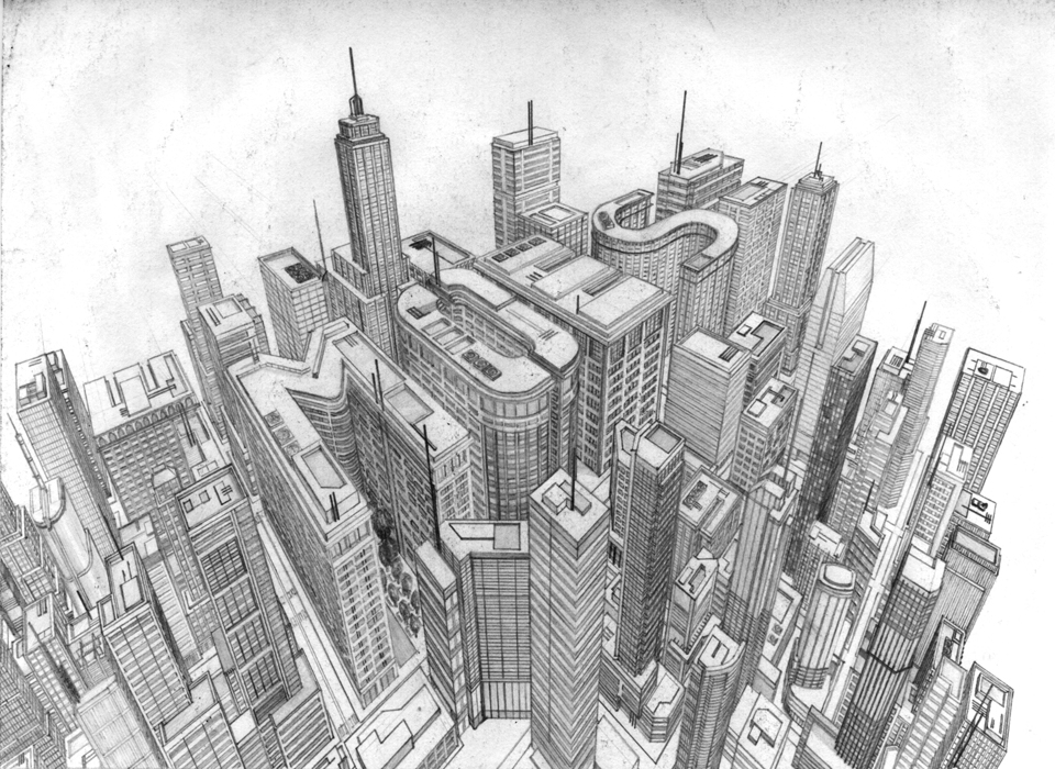 Drawn cityscape #4