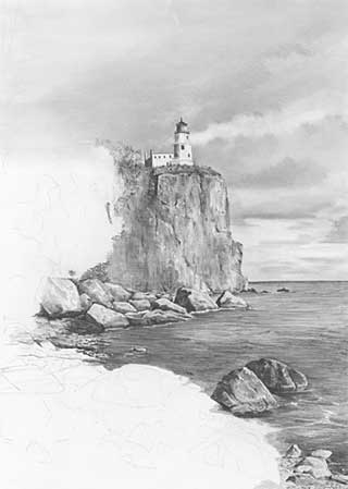 Drawn cliff Step2 Diane Wright by LANDSCAPES
