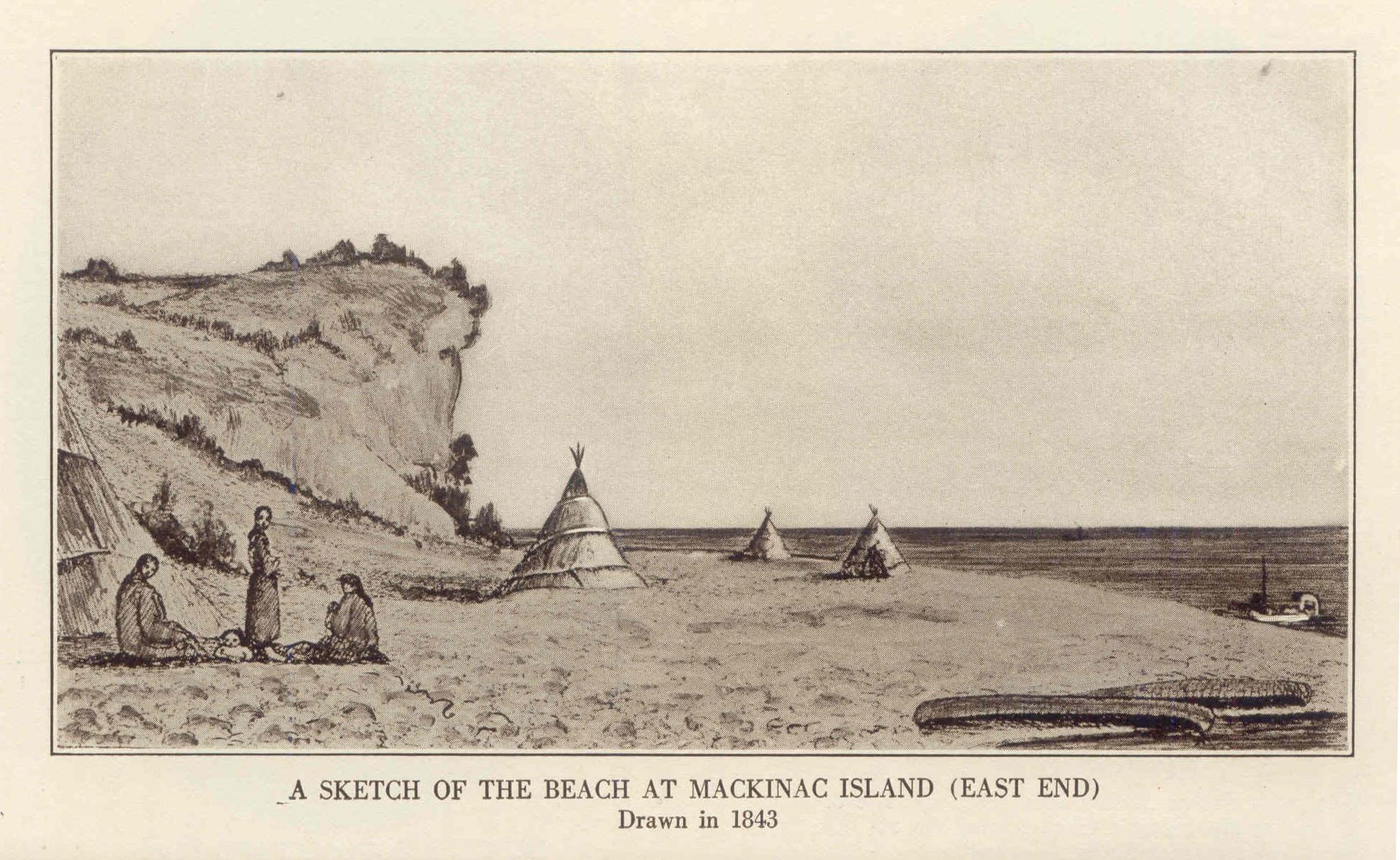 Drawn island deserted At Mackinac jpg Island drawing
