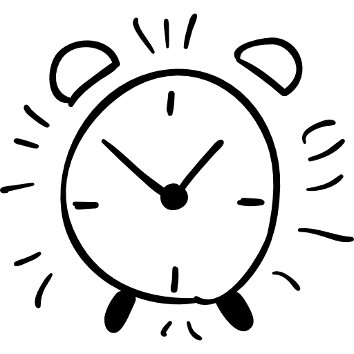 Drawn clock Alarm icon icons outline outline