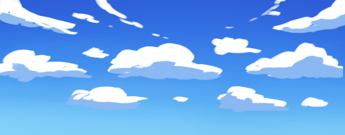 Drawn clouds simple Tutorial cloud placement anime Anime