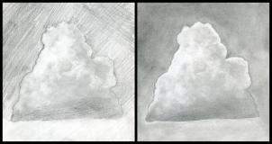 Drawn clouds shaded Draw Draw how Step by