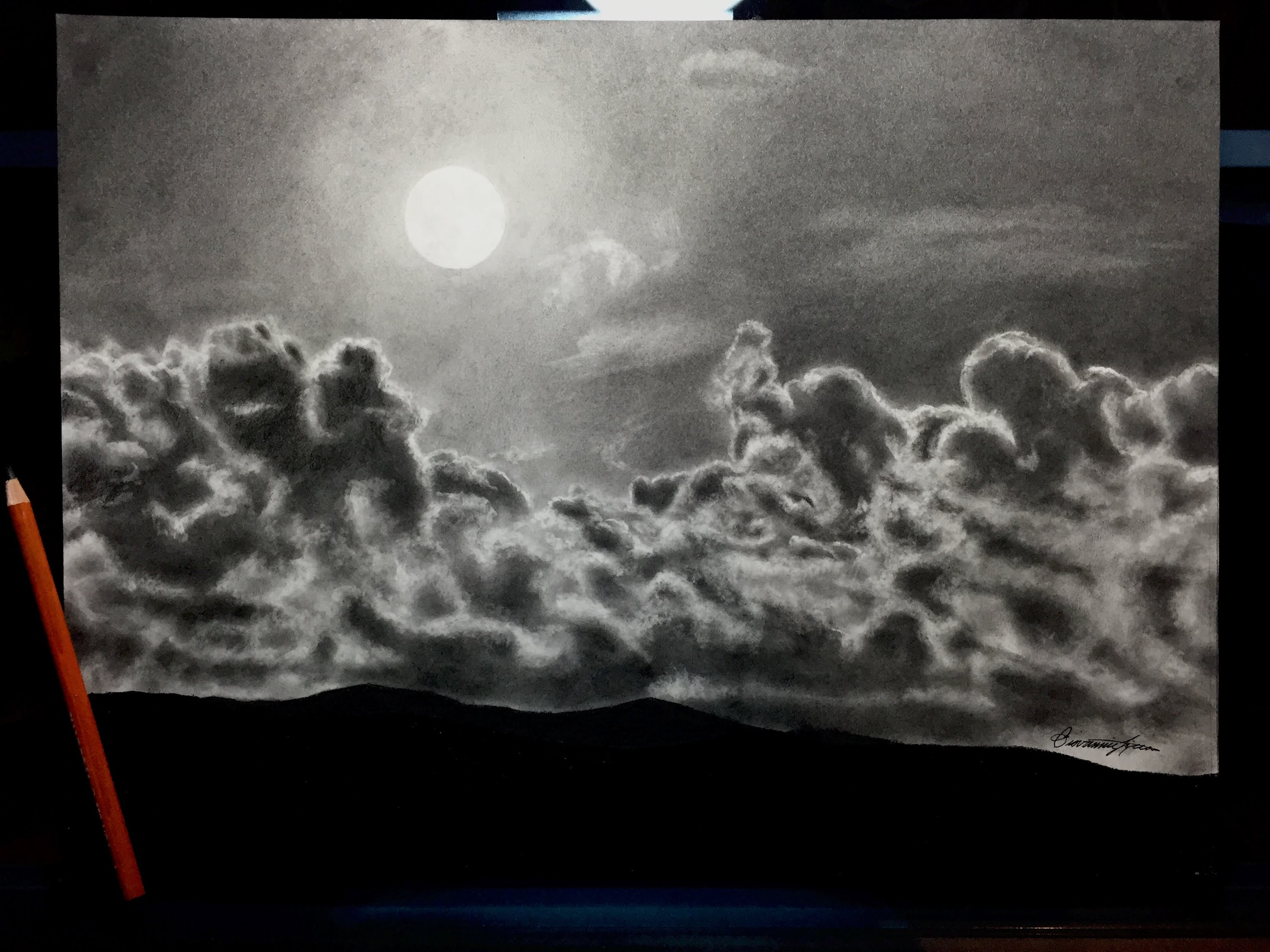 Drawn sky pencil drawing Sky! Night Mesmerizing Drawing The