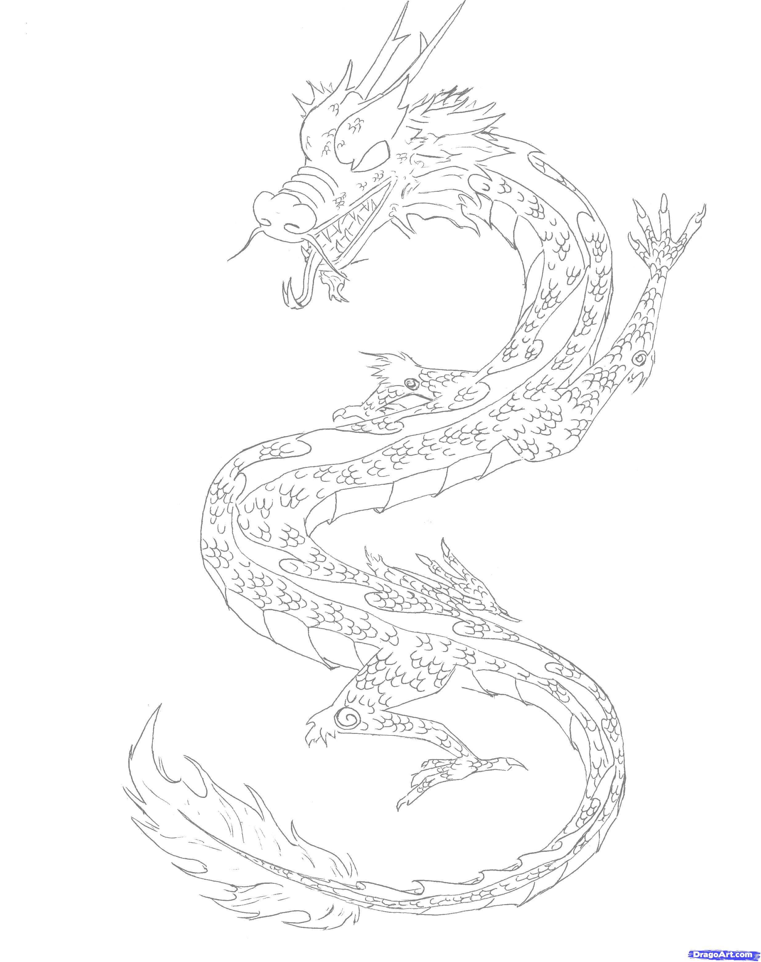 Drawn clouds chinese Step Draw Dragons to Draw