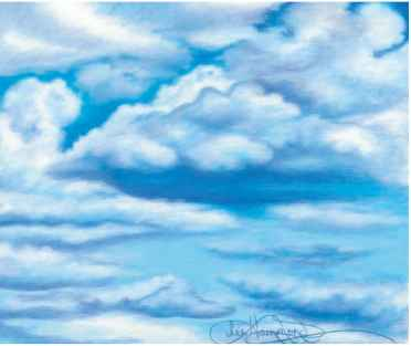 Drawn clouds color pencil In Drawing The Colored Colored