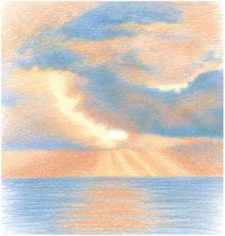Drawn clouds color pencil Colored In Colors Clouds Pencil