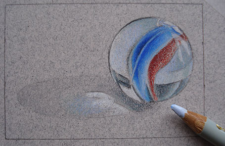 Drawn clouds color pencil Marble: a  to Marble