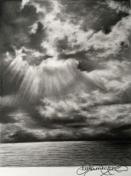 Drawn sky real In Drawing Graphite in Graphite