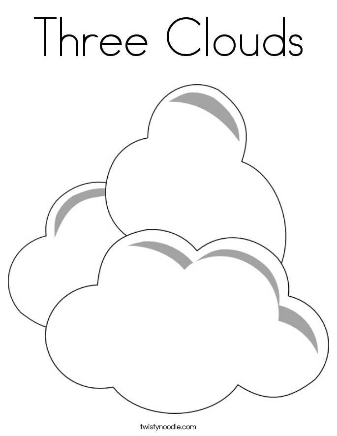 Drawn clouds colouring Blog: Pages Coloring Cloud 2015