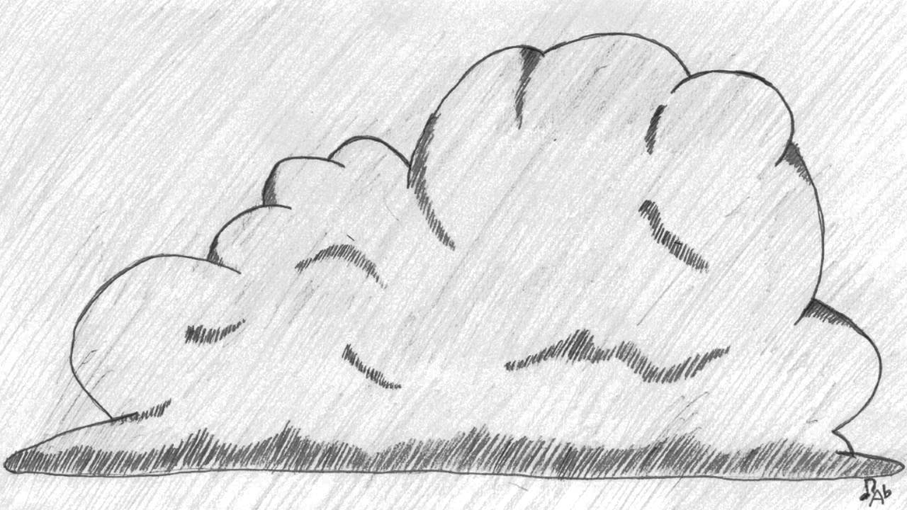 Drawn clouds cumulus Cumulonimbus YouTube Cumulonimbus Cloud Cloud