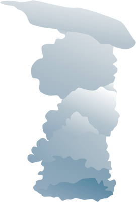 Drawn clouds cumulus Low clouds dense Low Vector