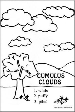 Drawn clouds cumulus Page: Clouds Coloring Coloring Cumulus