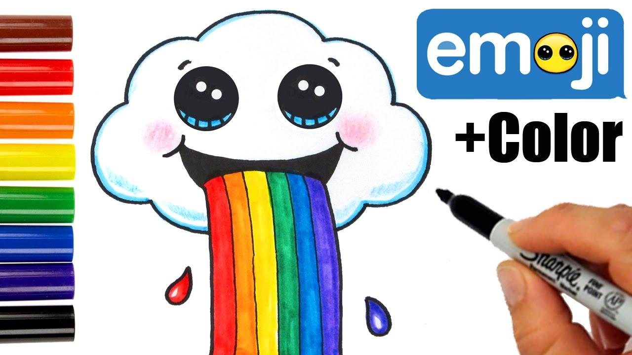Drawn rainbow cute Color Cloud Draw Easy a