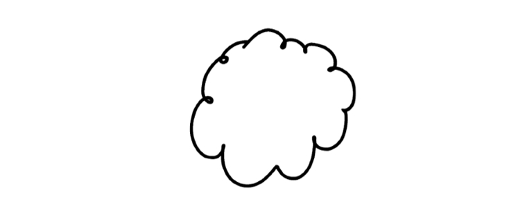 Drawn cloud With line successful move You