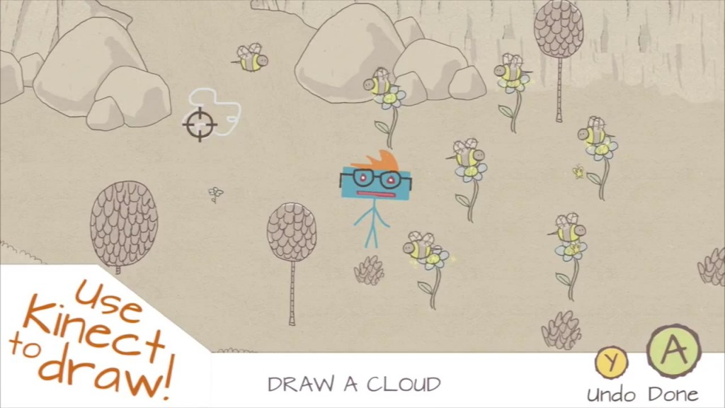Drawn clouds epic Stickman: EPIC Review 123Kinect Draw