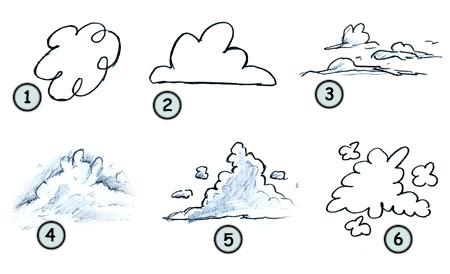 Drawn clouds funny cartoon How cartoon step clouds clouds