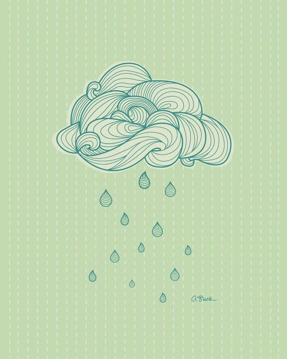 Drawn clouds illustrated 25+ AprilBlackDesigns Best Etsy Cloud