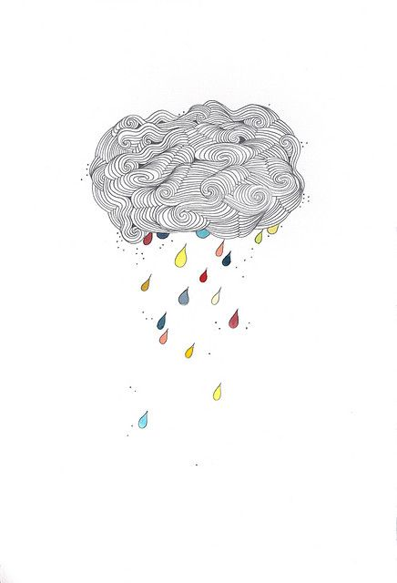 Drawn clouds illustrated Cloud on rain · ideas