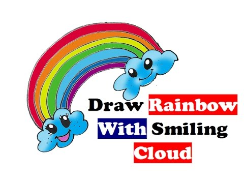 Drawn rainbow simple Rainbow easy smiling colors step