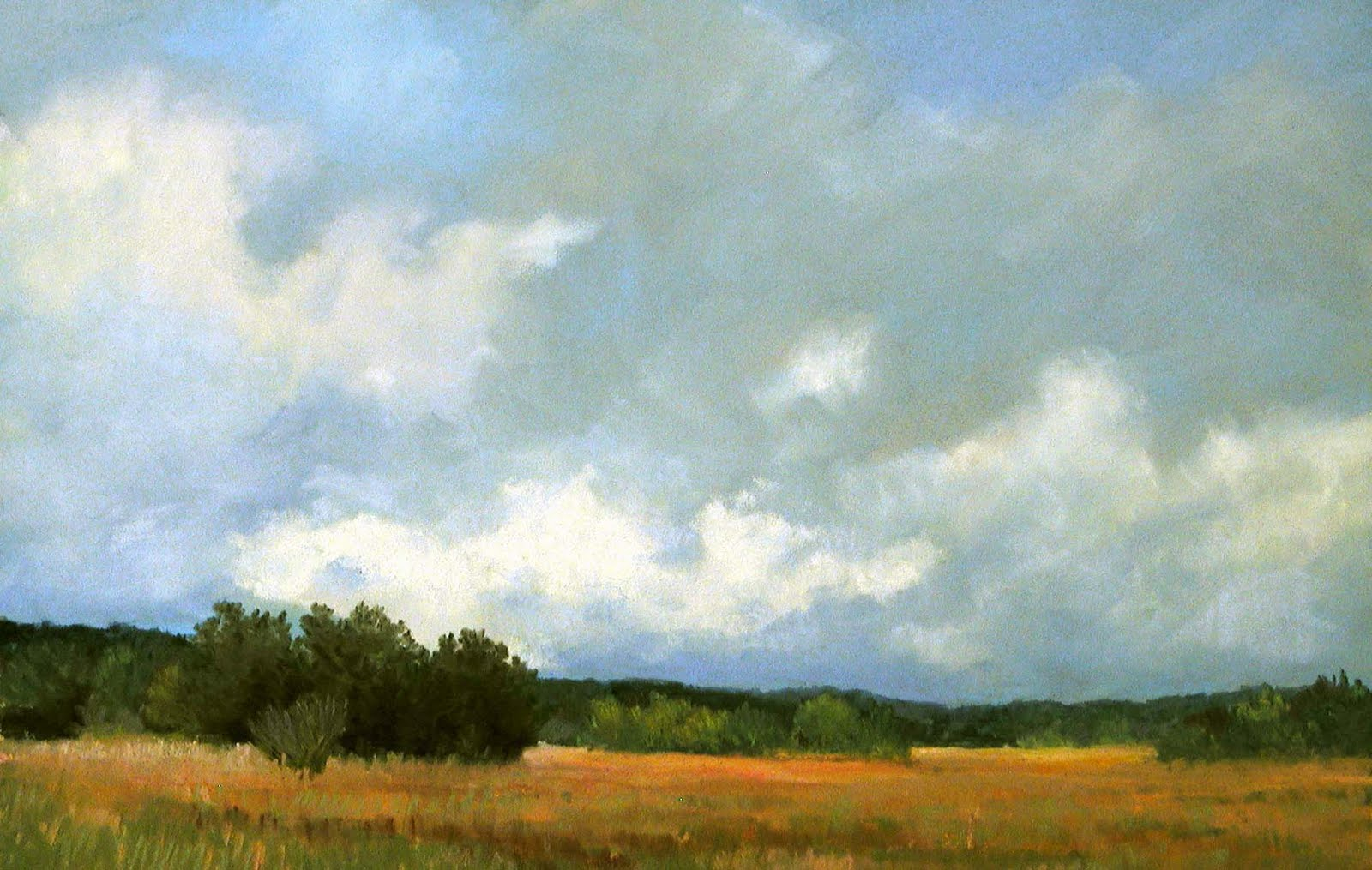 Drawn clouds pastel EIGHT–  CHAPTER Landscape CLOUDS
