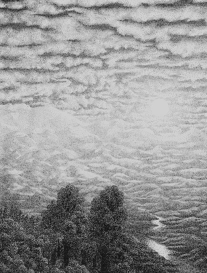Drawn clouds pen and ink 2 Clouds Drawing Clouds Ink