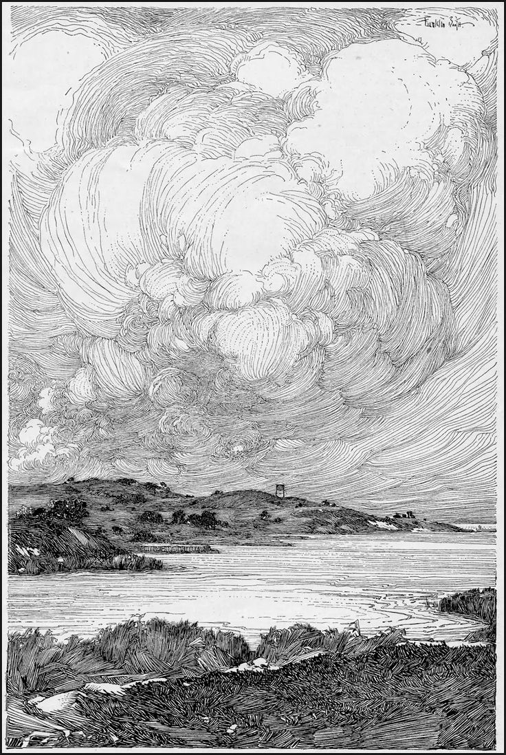 Drawn clouds pen and ink Incredible  Photography Digital Pen