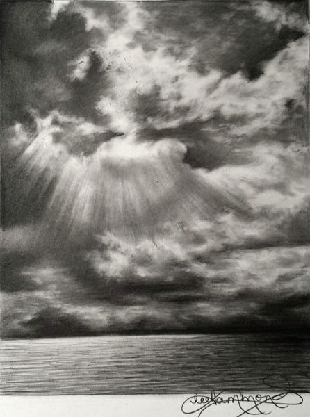 Drawn sky pencil drawing Pinterest ideas drawings Graphite Best