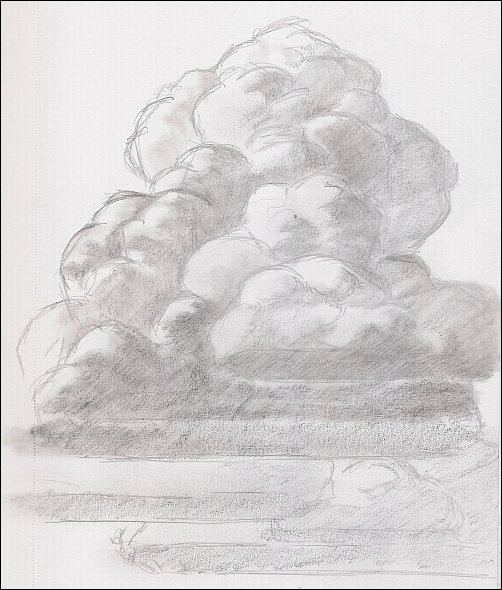 Drawn clouds L Lewis Thunderhead How Clouds