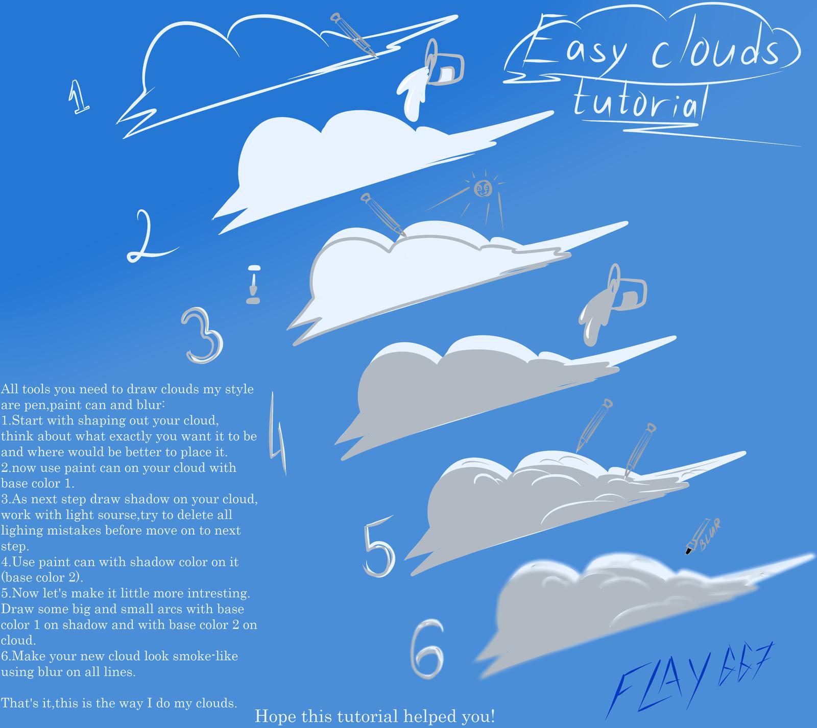 Drawn clouds funny cartoon DeviantArt by Cartoon Cartoon Cartoon