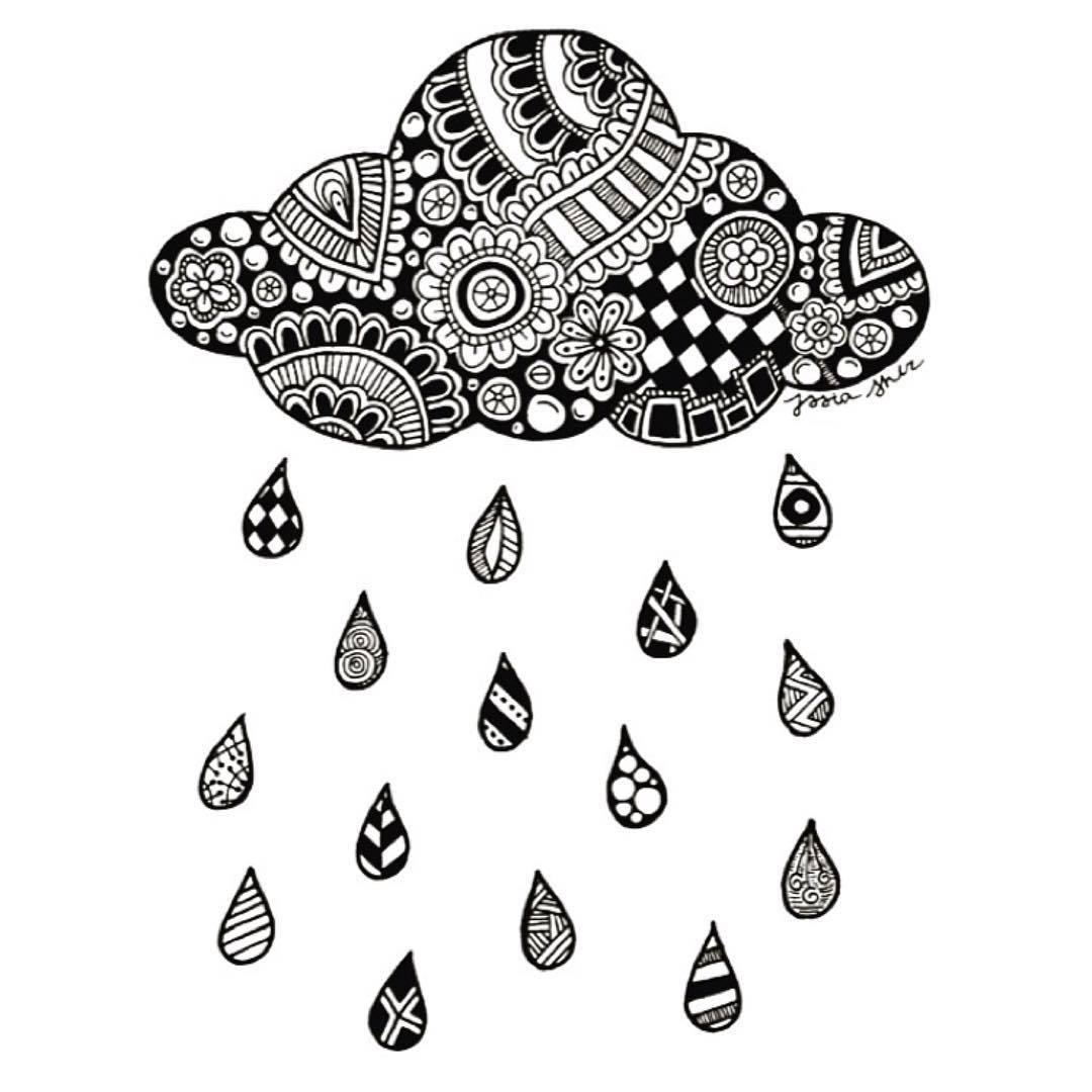Drawn clouds rain drawing Heyy Rain Jess Cloud Cloud