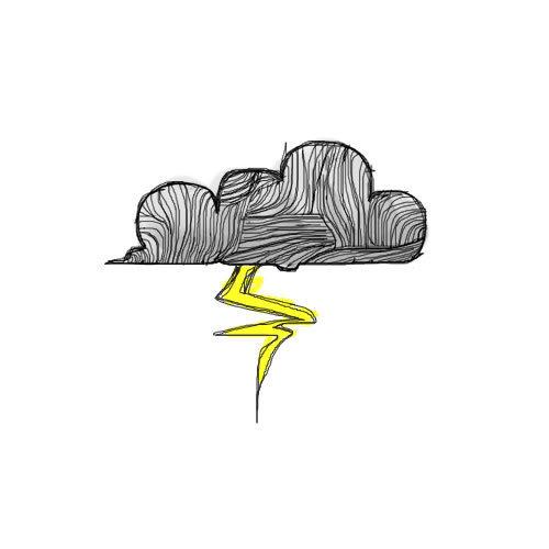 Drawn clouds rain drawing And drawing image cloud Favim