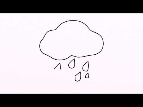 Drawn clouds rain drawing Step Fourpencil? draw how from