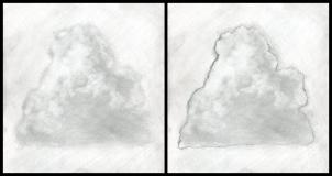 Drawn clouds realistic Step Clouds How 4 Step