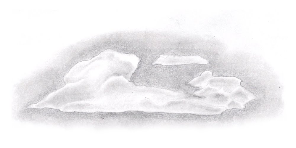 Drawn clouds shaded In that Once by now