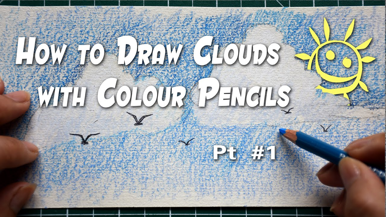 Drawn clouds color pencil Pt Clouds With / Draw