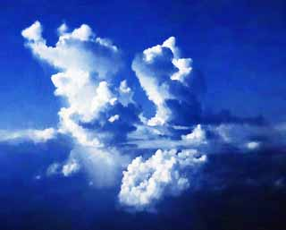 Drawn clouds color pencil Free Yun a pencil free