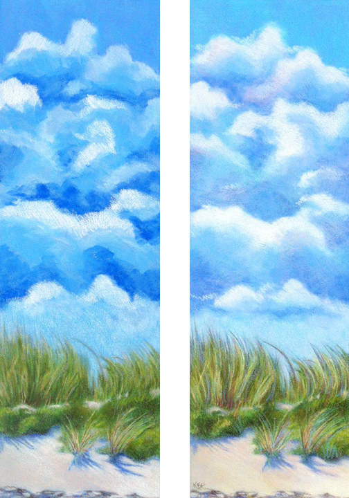 Drawn clouds color pencil And Dunes KJF Clouds Clouds