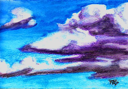 Drawn clouds color pencil Surface press/Not HubPages on in