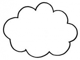 Drawn clouds colouring Coloring coloring cloud printable Cloud