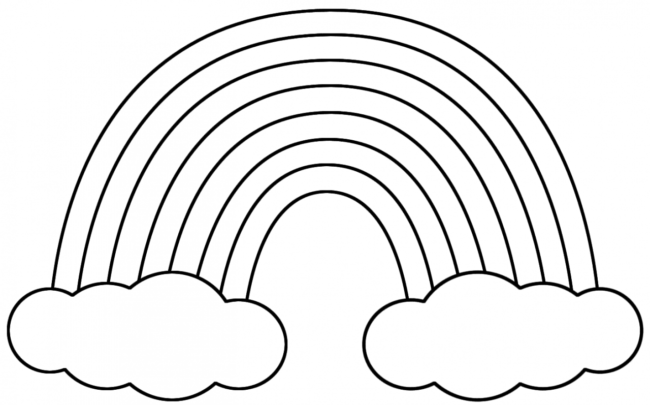 Drawn clouds colouring : Colouring Rainbow Posts Coloring