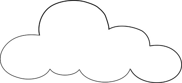 Drawn clouds colouring Coloring ideas inspiration ingenious Clouds