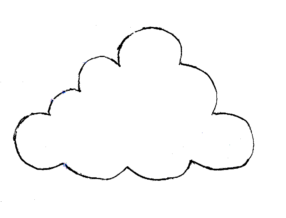 Drawn clouds colouring Cloud Rain Of Template Free