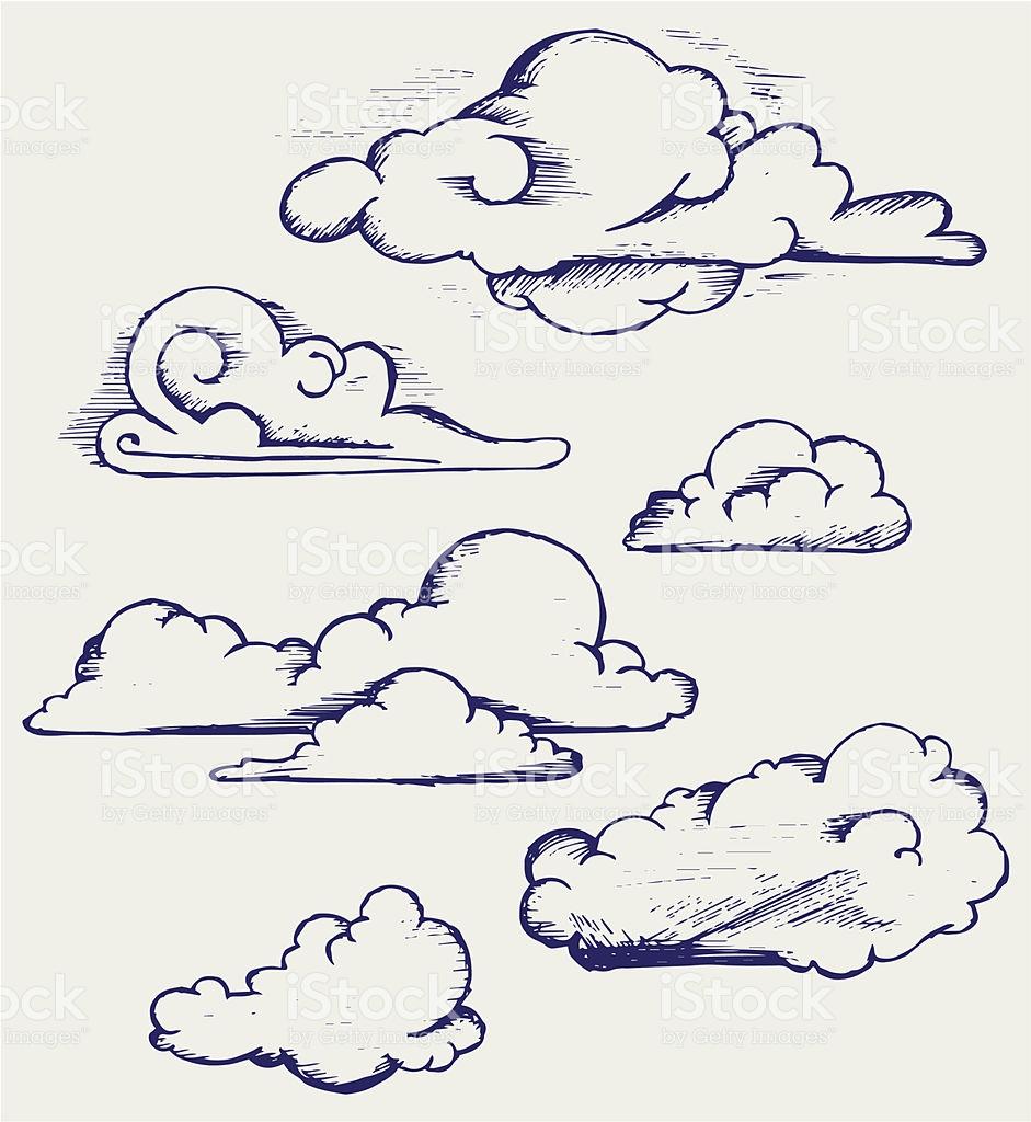 Drawn clouds cute cartoon Imagem para de draw Pinterest
