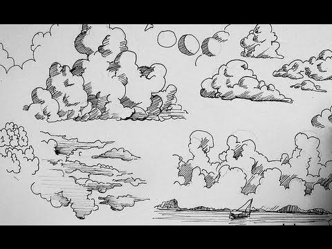 Drawn clouds cute cartoon Ink Pinterest Drawing draw How