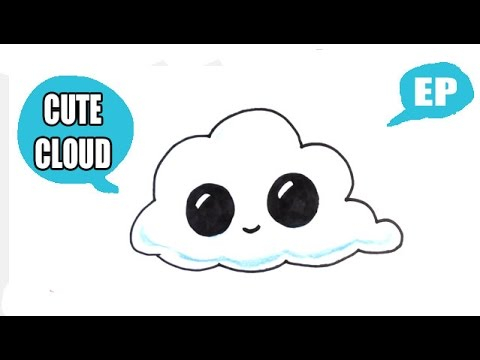 Drawn clouds cute cartoon Draw Pictures a Pictures Cloud