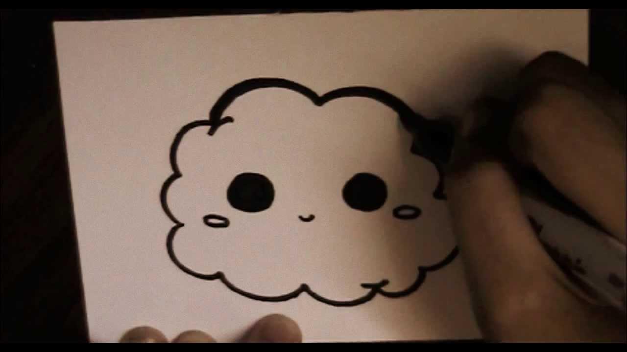 Drawn clouds cute cartoon To draw YouTube cute How