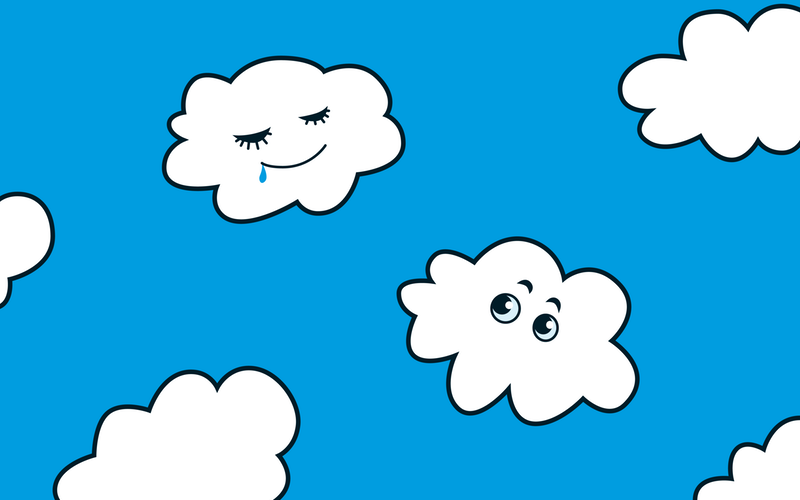 Drawn clouds funny cartoon Happy Archives clouds Strange Cute